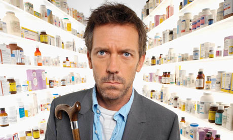 Hugh Laurie as the titular Dr House