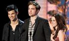 Taylor Lautner, Robert Pattinson and Kristen Stewart at the 2011 MTV movie awards