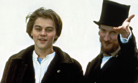 Leonardo DiCaprio as Rimbaud and David Thewlis as Verlaine in Total Eclipse