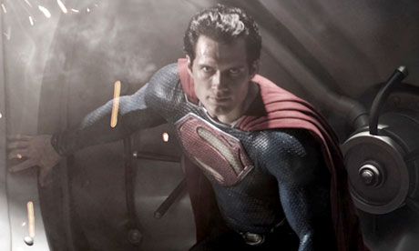 Henry Cavill as Superman in forthcoming Warner Bros film Man of Steel