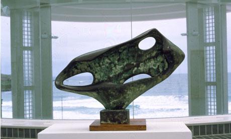 Barbara Hepworth sculpture at Tate St Ives