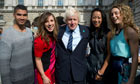 Boris johnson at London Fashion Week