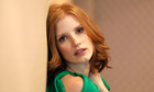 "Chastain, who stars in the movie ""The Tree of Life"", poses for a portrait in Los Angeles"
