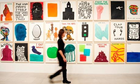 David Shrigley's exhibition at Hayward Gallery, London.