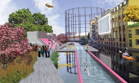 Londons proposed Lido Line at Broadway Market