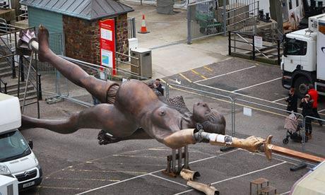 Damien Hirst's statue Verity
