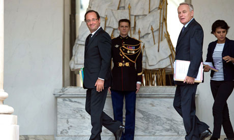 Francois Hollande is frustrated with Angela Merkel