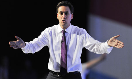 Ed Miliband at the 2012 Labour party conference