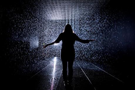 Rain Room by Random International the Curve Gallery, Barbican