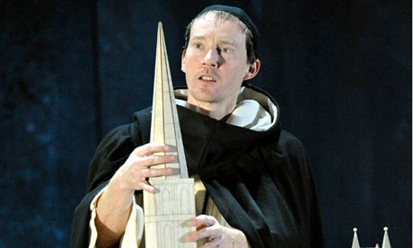 Mark Meadows in The Spire at Salisbury Playhouse