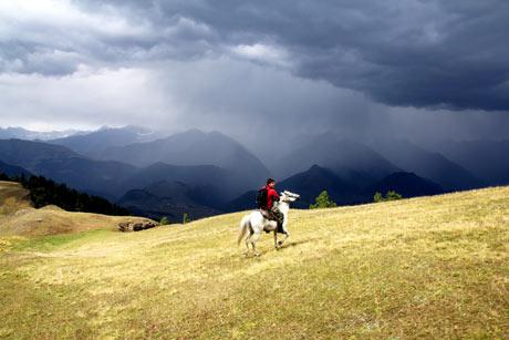A horseman in Georgia