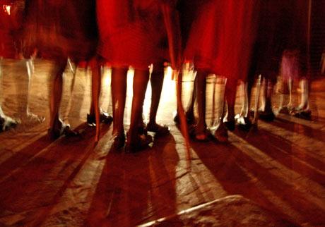 Masai dancers feet