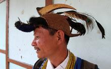 A man from the Nyishi tribe in Arunachal Pradesh, India