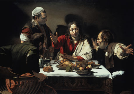 Caravaggio, The supper at Emmaus, 1601
