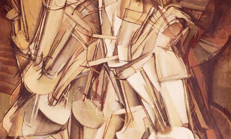 Marcel Duchamp's Nude Descending a Staircase No 2 (1912), featured in the Armory Show, 1913