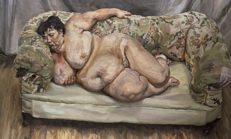 Naked truth … Lucian Freud's Benefits Supervisor Sleeping (1995)