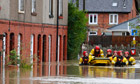 Floods in Wales; snow is forecast in England and Scotland