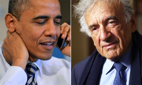 President Barack Obama and Elie Wiesel