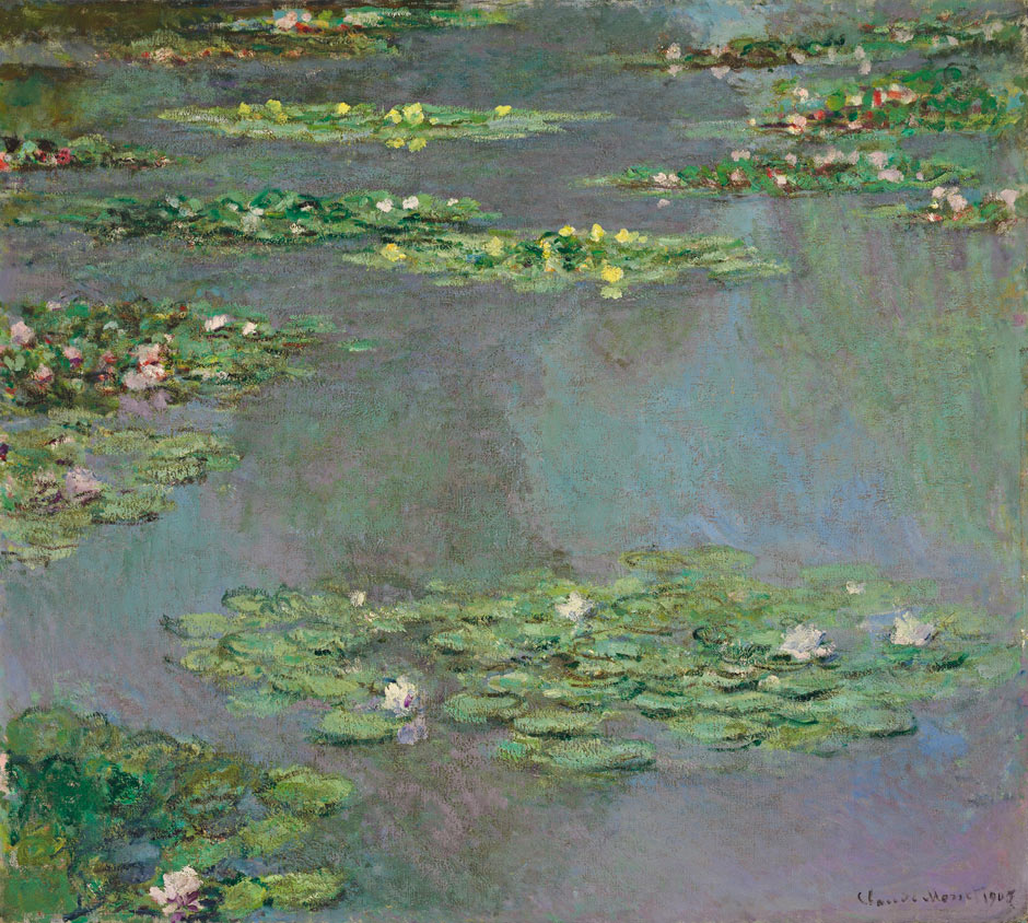 A Claude Monet 1905 water lily painting