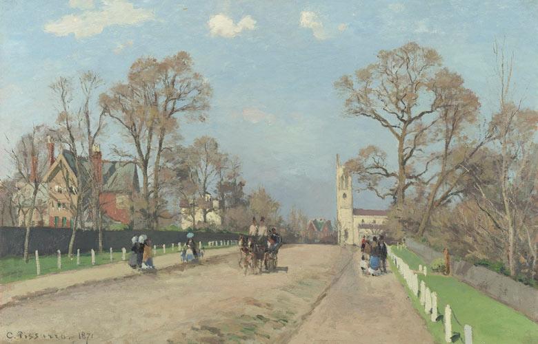 Camille Pissarro's The Avenue, Sydenham (1871)