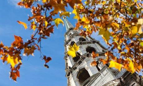 A death knell for a nave? … the steeple of Sir Christopher Wren's St Bride's church