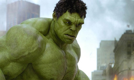Hulk in The Avengers played by Mark Ruffalo