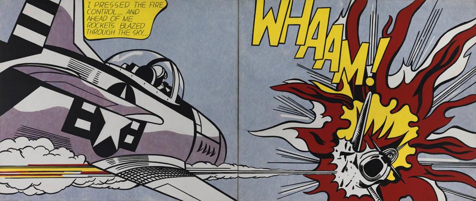 Whaam! Prepare to be hit by Roy Lichtenstein's finest ...