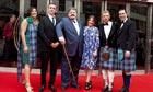 Dressed to kilt … Scottish stars attend the Edinburgh film festival awards ceremony.