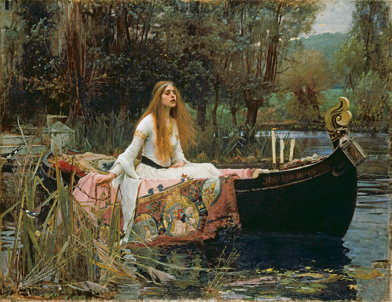The Lady of Shalott by JW Waterhouse