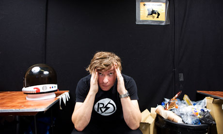 Rhys Darby backstage at the Pleasance Grand in Edinburgh