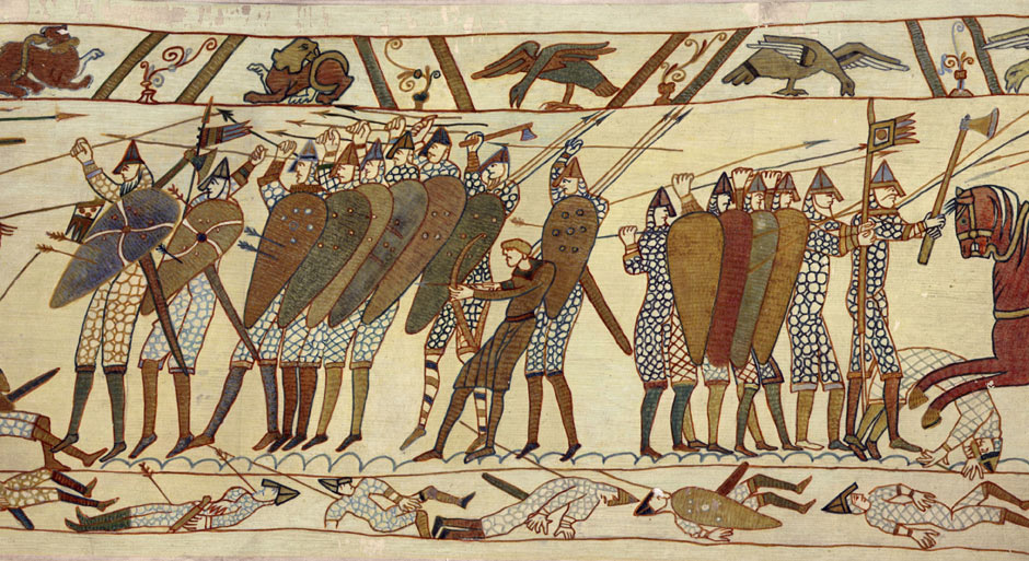 The art of war the Bayeux Tapestry records the most
