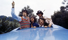 Beatles Paul, George, Ringo and John in Magical Mystery Tour