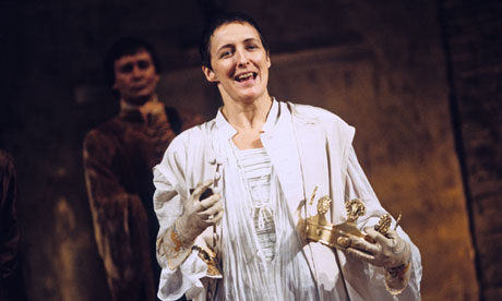 Fiona Shaw in Richard II at the National Theatre Cottesloe.