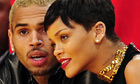 Chris Brown and Rihanna attending an NBA  game in Los Angeles