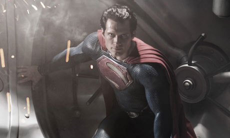 Superman in 2013's forthcoming Man of Steel. Photograph: Clay Enos/AP