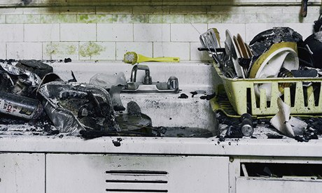 Janet Delaney's best photograph: a burnt-out San Francisco kitchen