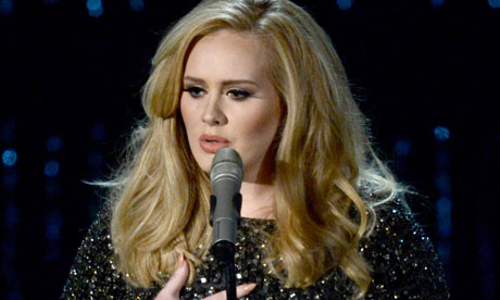 Singer Adele performs at the Oscars