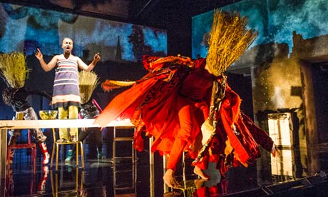 Naana Agyei-Ampadu (Oshun) in Feast at Young Vic