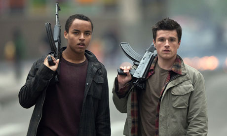 Connor Cruise and Josh Hutcherson in Red Dawn (2012)