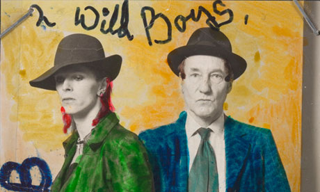 David Bowie and William Burroughs photographed by 