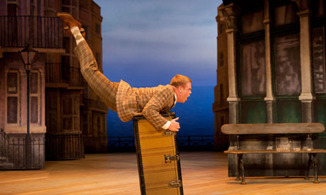 Owain Arthur as Francis Henshall in One Man, Two Guvnors at Adelaide festival 2013.