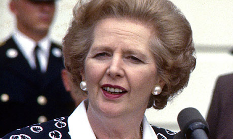 Prime Minister Margaret Thatcher in the 1980s.