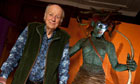 Ray Harryhausen with a life-size replica of Medusa