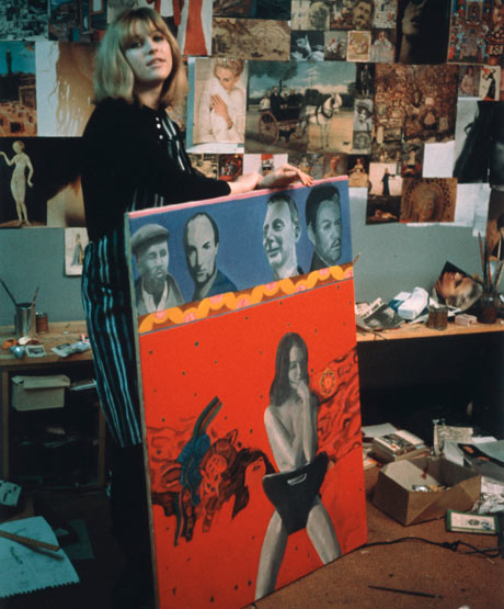Pauline Boty with Christine Keeler painting Scandal '63