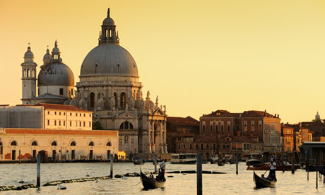 Holy water … the church of Santa Maria della Salute in Venice.