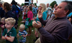 Family at Latitude festival in Suffolk