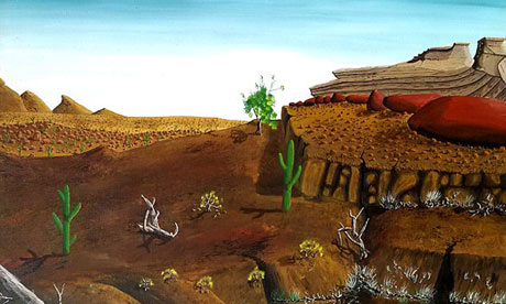 A landscape claimed to be by Peter Doig