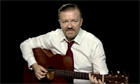 David Brent teaching guitar for YouTube comedy week