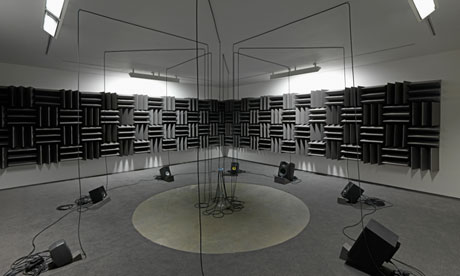 Haroon Mirza's Adam, Eve and a UFO (2013).