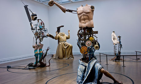 Michael Landy's Saints Alive exhibition at the National Gallery, London.